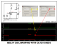 Relay coil damping with catch diode.png