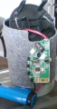 A pic of a disassembled Bluetooth speaker