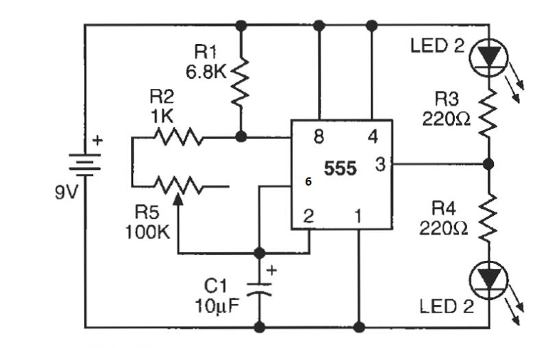 album  led flasher circuit