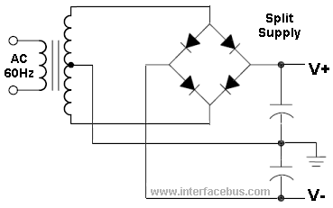 photo wrong diode bridge split supply in the album misc. Black Bedroom Furniture Sets. Home Design Ideas