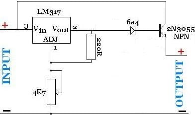 Creating A High Current Lm317 Regulator