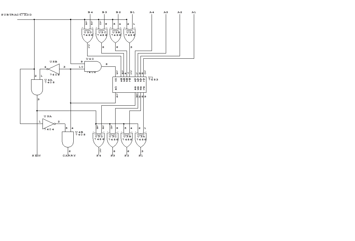 4 Bit Add Sub Circuit Glitch All About Circuits 1 S Complement Diagram